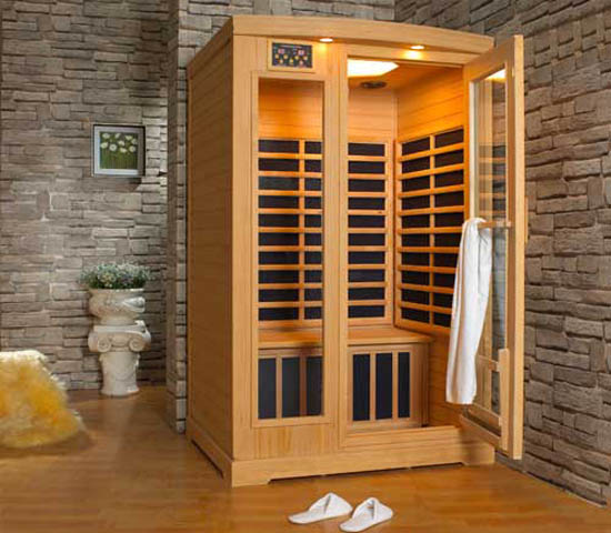 Charmant Infrared Sauna In Corner, Functional Modern Bathroom Design Ideas