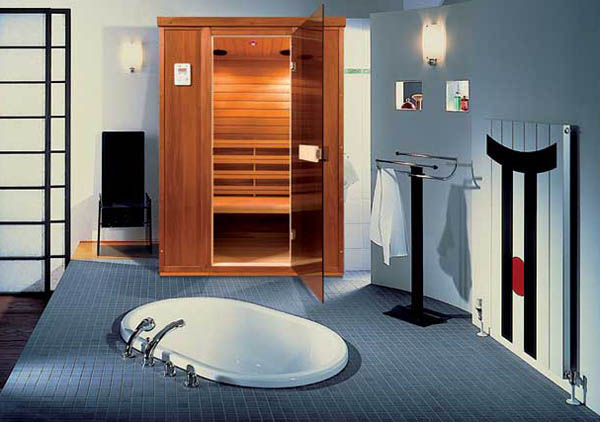 Sauna With Infrared Heater Contemporary Addition To Modern Bathroom Design