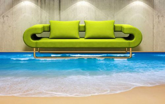 beach design for floor decor