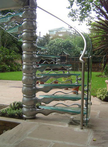 staircase design steel and glass