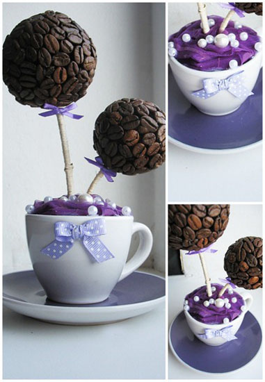 Coffee beans centerpiece ideas crafts for table decoration