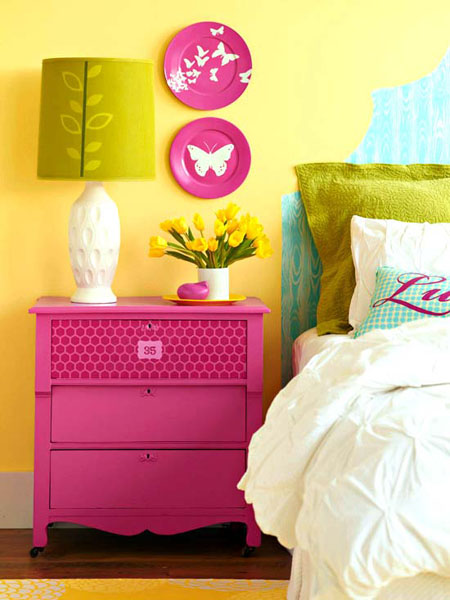 Pink And Green Bedroom Colors
