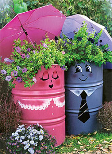 Backyard Ornaments creative handmade garden decorations, 20 recycling ideas for