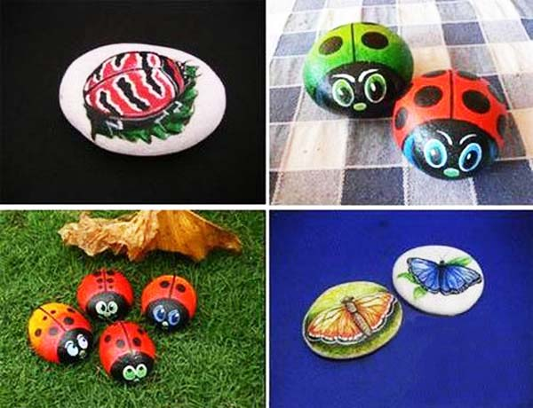 Rock decorating ideas Diy Rock Painting Ideas Brighten Up Garden Designs Lushome Painted Rocks For Artistic Yard And Garden Designs 40 Cute