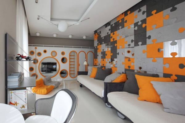 Optimistic Kids Room Design for Two Boys by Geometrix Design Studio