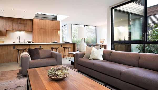 natural materials for living room design