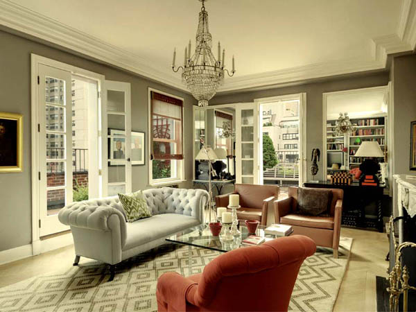 Small Penthouse in Manhattan, Classy Interior Design Ideas and ...