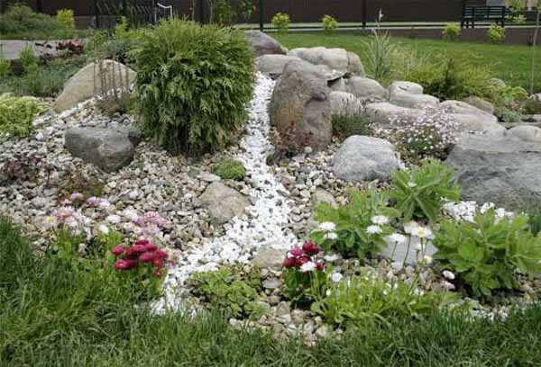 Dry River Rocks Garden Beautiful Backyard Ideas