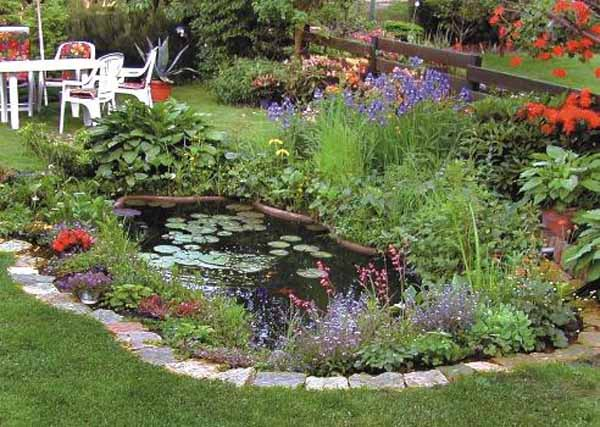 21 garden design ideas small ponds turning your backyard for Garden pond specialists