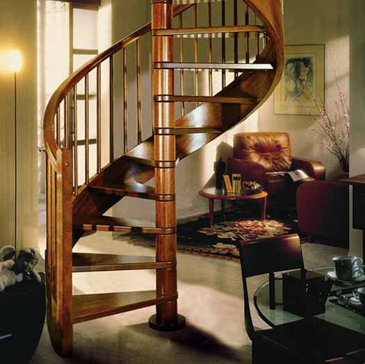 Staircase Decorating Ideas With Modern Design: Modern Interior Design With Spiral Stairs, Contemporary