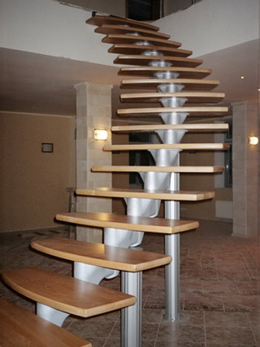 Modern Interior Design With Spiral Stairs Contemporary