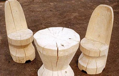 Enjoyable Logs Furniture And Decorative Accessories 16 Diy Home Interior Design Ideas Tzicisoteloinfo