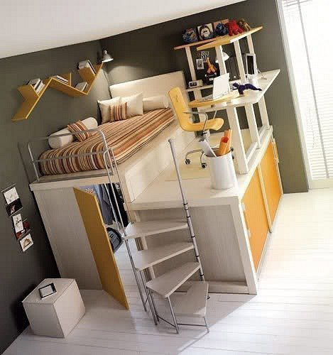 ... small rooms. Contemporary loft bed & 21 Loft Beds in Different Styles Space Saving Ideas for Small Rooms