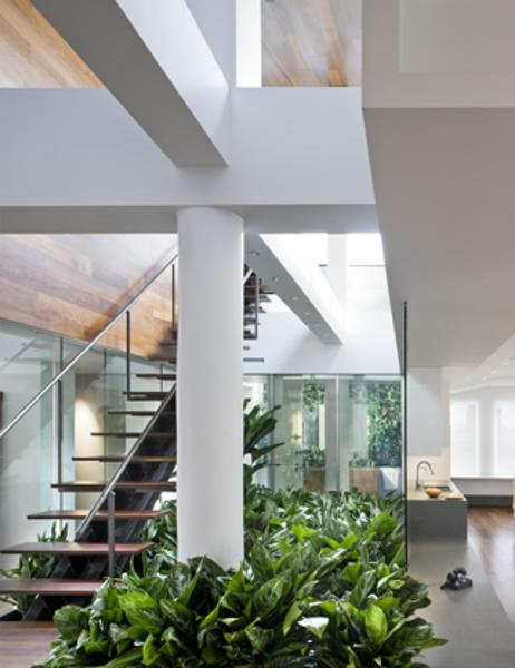 Modern House Design With Indoor Garden Broadway Penthouse