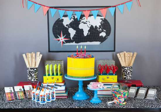 World Map Party Supplies.22 Creative Back To School Party Decorations And Table Centerpieces