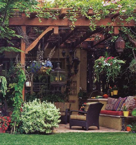 22 backyard patio ideas that beautify backyard designs for Garden sit out designs