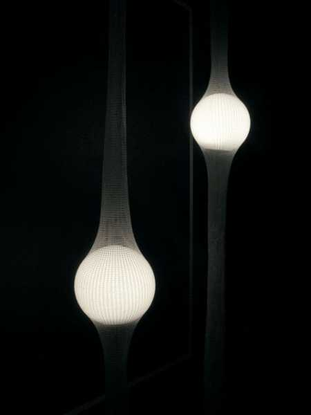 pendant lights with glowing led globes