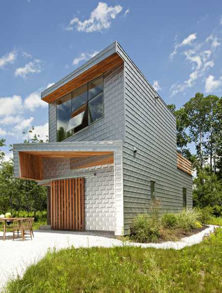 wood and aluminum house exterior design