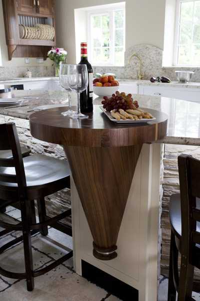 serving table made of walnut wood