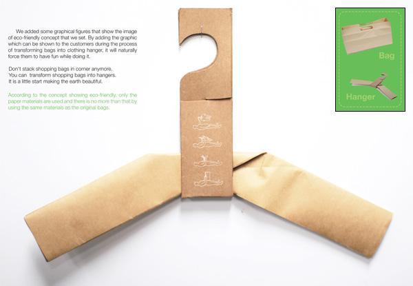 recycling paper hanger bag