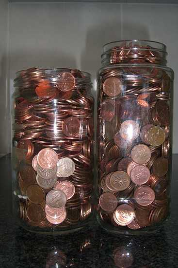 home decorating with pennies