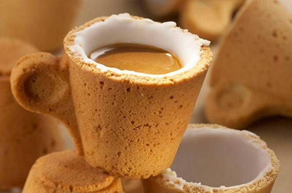 coffee in edible cookie cup