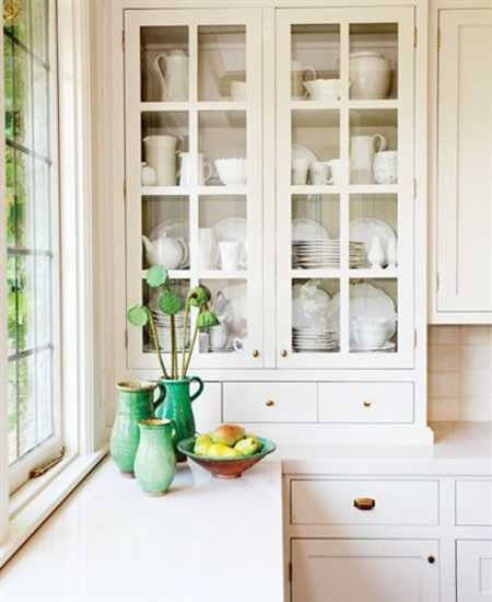 white kitchen cabinets for china and green decorative accessories
