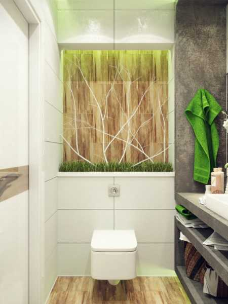 white wall tiles and wooden wall for small bathroom decorating