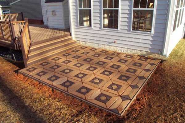 Composite Deck Tiles And Boards
