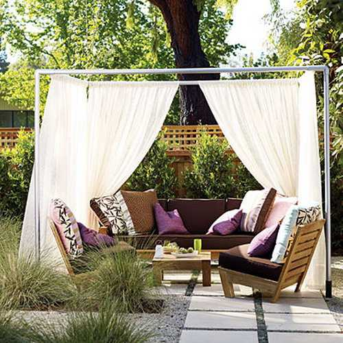 23 Best Diy Backyard Projects And Garden Ideas: 20 DIY Outdoor Curtains, Sunshades And Canopy Designs For