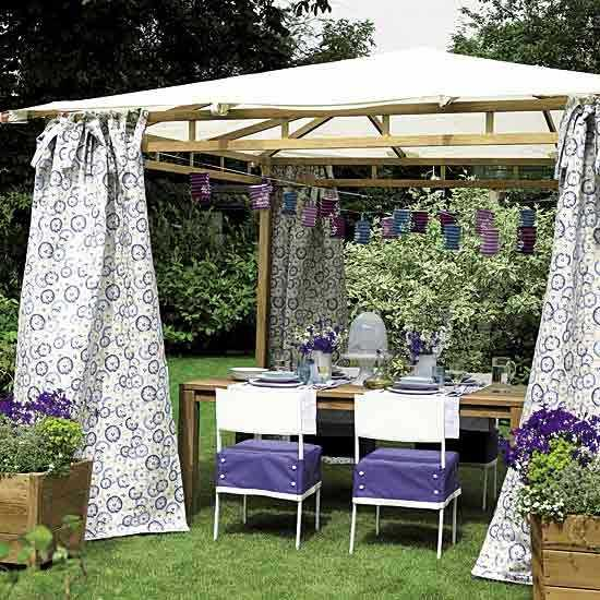 20 diy outdoor curtains sunshades and canopy designs for summer outdoor fabrics and creative sunshades or canopy designs help turn your backyard into beautiful outdoor living space where you can enjoy your bright summer solutioingenieria Gallery