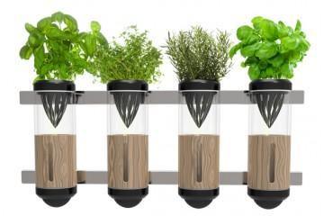 hydroponic garden design with contemporary planters