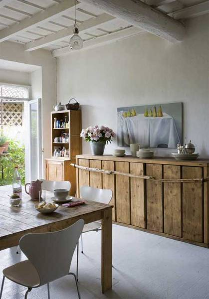 Storage Furniture For Dining Room Decorating, Wood Recycling Ideas