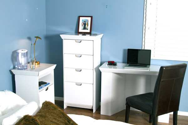white storage cabinet with cardboard drawers