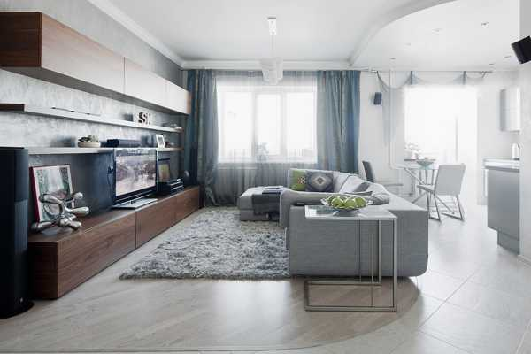 Small Apartment Decorating with Light Cool Colors, Contemporary ...