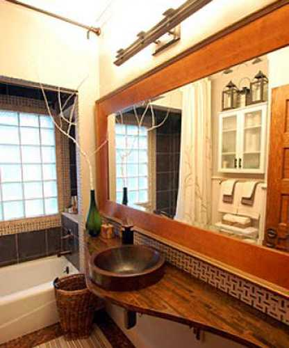 Gorgeous Small Bathroom Design with Penny Tiled Floor, DIY ...