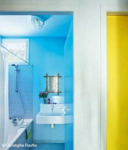Colorful small cottage decor bright wall painting ideas Bright yellow wall paint