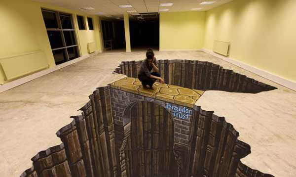 Art Adds Drama And Dynamic Energy To Floor Decorating Spectacular Amazing Visual Illusions Are A Quick Way Redesign Any Interior
