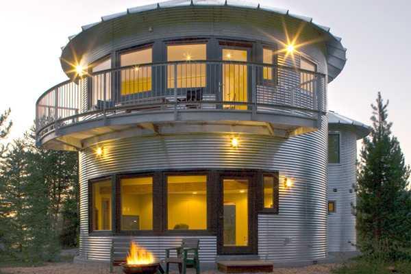 grain silo converted into contemporary home