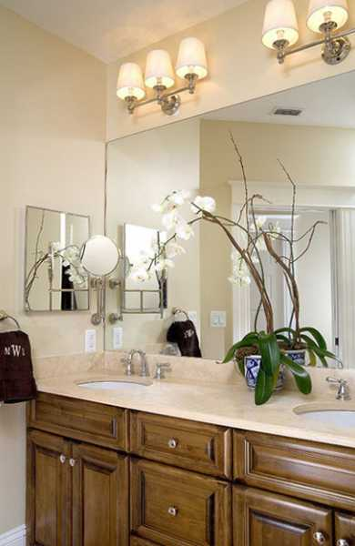 Beautiful bathroom decorating and home staging with orchids - Home decor ideas for small homes ...