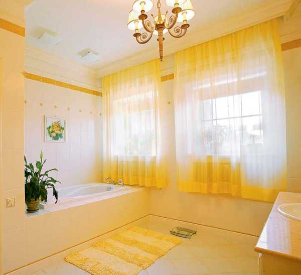 Yellow Bathroom Tile: 25 Modern Bathroom Ideas Adding Sunny Yellow Accents To