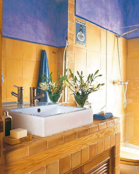 Blue And Yellow Bathroom Decor: 25 Modern Bathroom Ideas Adding Sunny Yellow Accents To