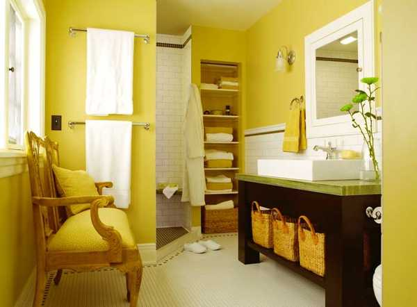 25 Modern Bathroom Ideas Adding Sunny Yellow Accents to ...