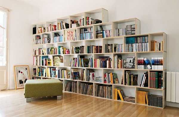 Modular Shelving System For Book Storage Contemporary Home Library Design Idea