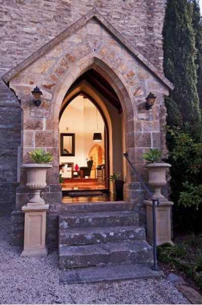 Small Church Conversion Creates Modern House Behind