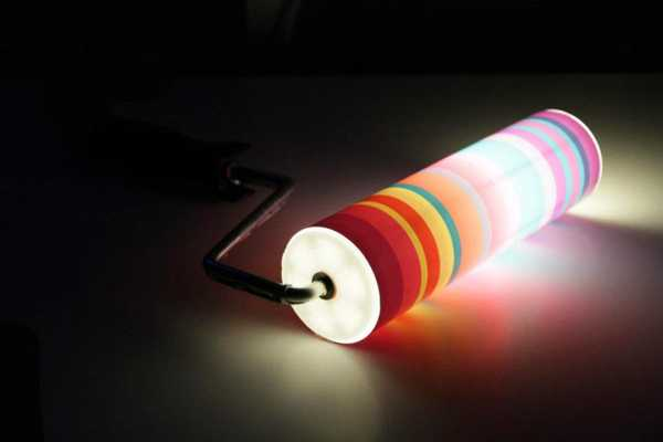 colorful wall lights