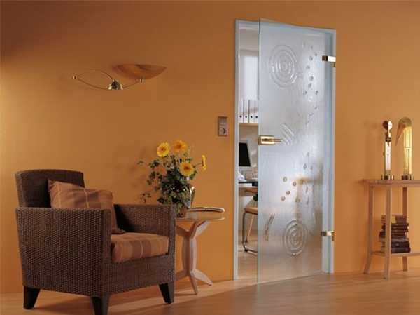 Genial Frosted Glass Door With Circle Pattern, Modern Interior Design Idea