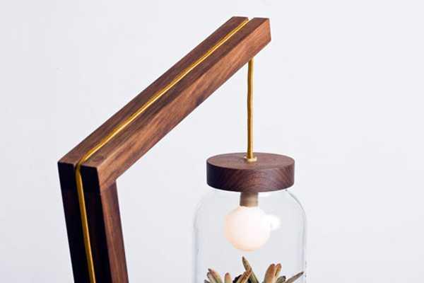 Contemporary Floor Lamp Blending Lighting Design And Glass Plant