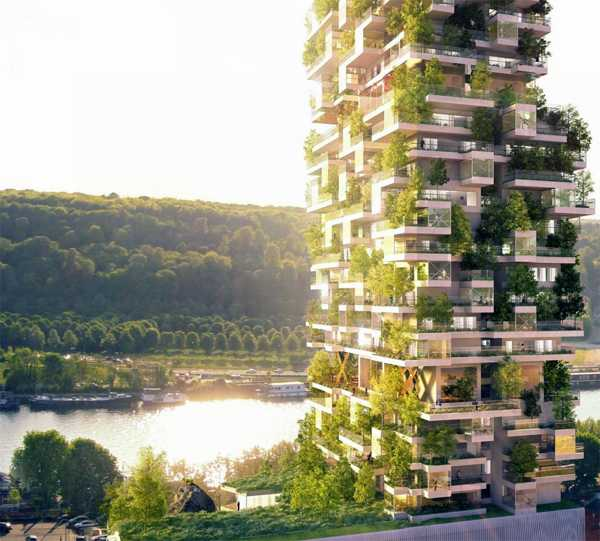 Green Building In Rural Urban Style With Spacious
