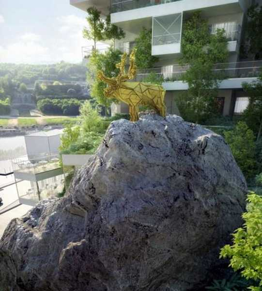 Garden Style Apartment: Green Building In Rural Urban Style With Spacious
